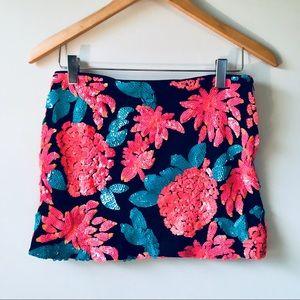 Nasty Gal floral sequin skirt